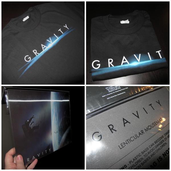 Unik samlar tshirt och hologram musmatta från filmen Gravity, i tävlingspotten med sf anytime