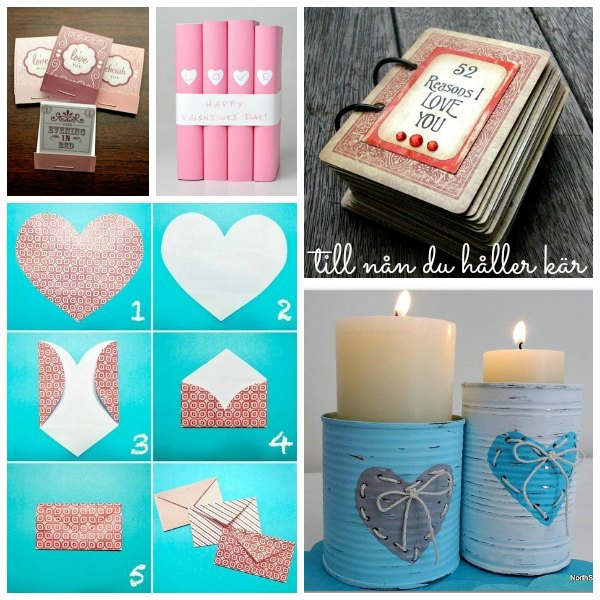 Gör valentines, alla hjärtansdags pyssel och ge bort i present