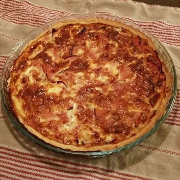 laktosfri paj med ost och skinka