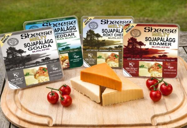 Mjölk- och laktosfri vegansk ost