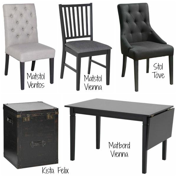 Önskelista & inspiration på möbler till kökets matplats från trademax