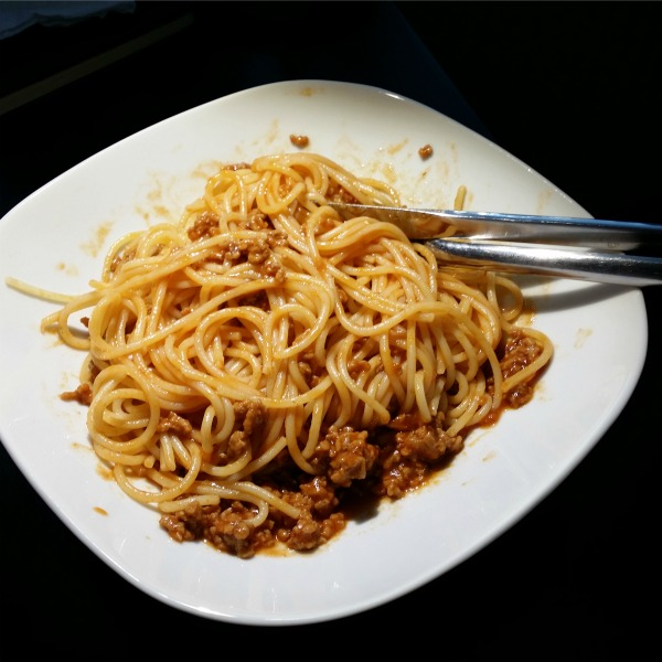 pasta bolognese till torsdagsmiddag
