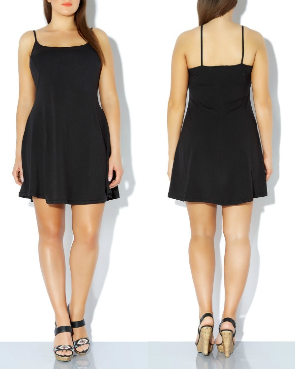 newlook 2014 - Inspire Black Strappy Skater Dress blogg