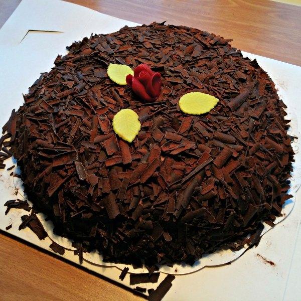 Chokladmousse tårta från Thores, Helsingborg
