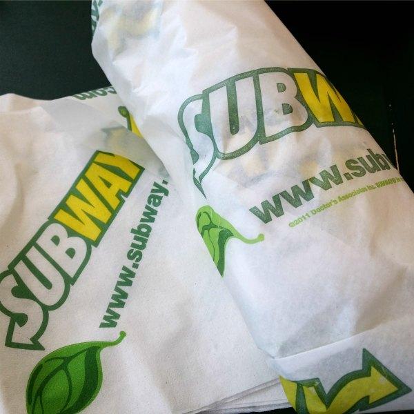 Skink & kalkon sub från subway