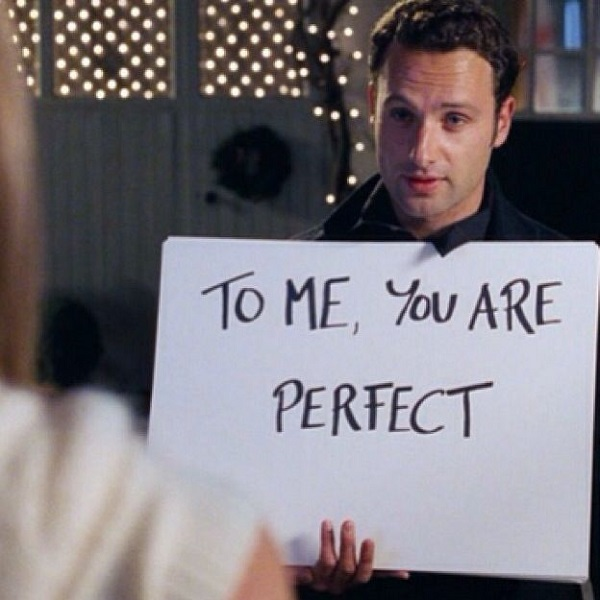 Love Actually - To me, You are perfect