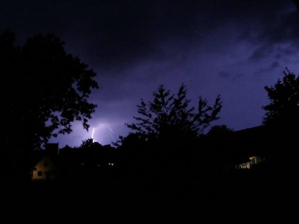 Åsk oväder natten till idag