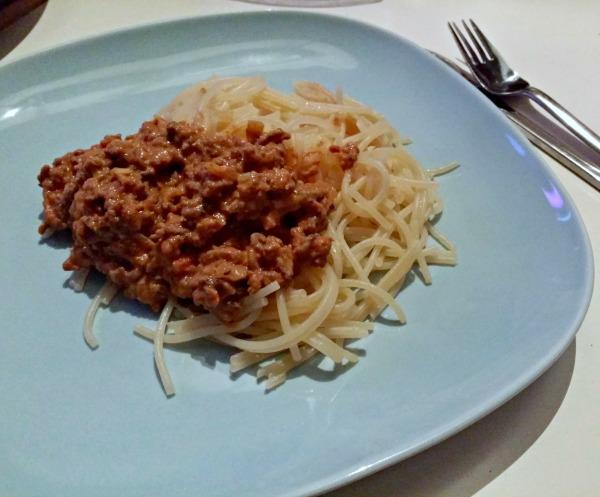Laktos och glutenfri köttfärssås