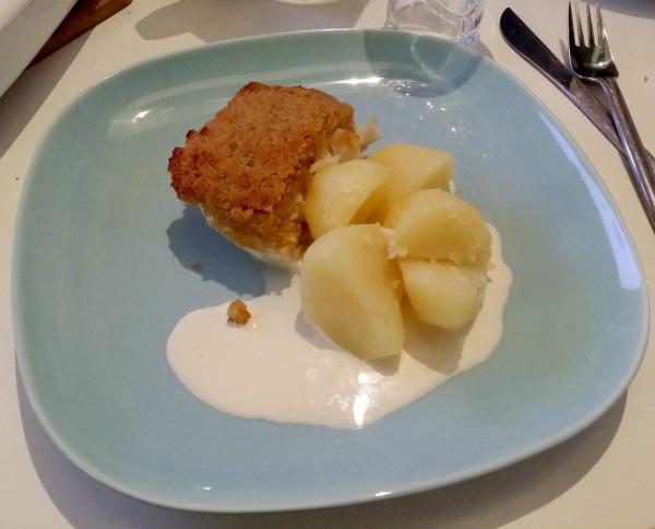 Fransk fiskgratäng med färsk potatis och laktosfri grädde