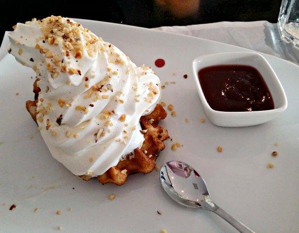 Gratis dessert på Jensens Böfhus i Stockholm, en mumsig Queens Delight.