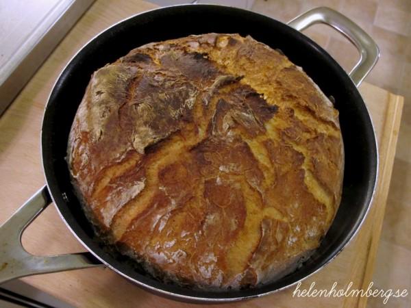 Laktosfritt grytbröd med vetemjöl och honung
