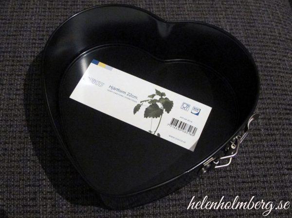 Hjärtformad bakform inköpt på Gekås i Ullared