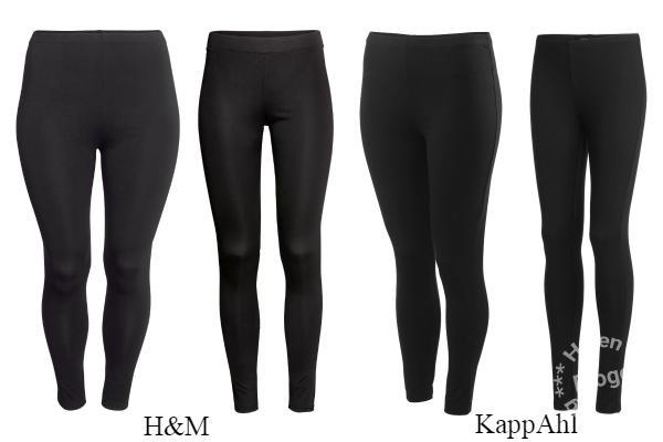Leggings från H&M och KappAhl
