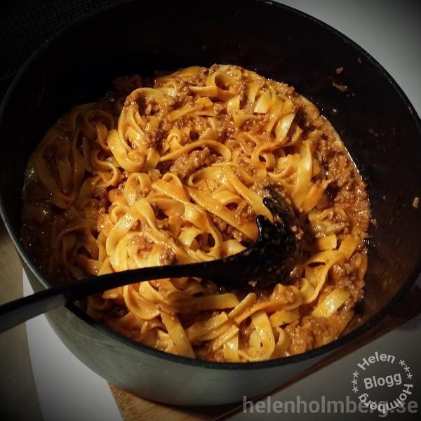 Laktosfri middag - pasta och köttfärssås