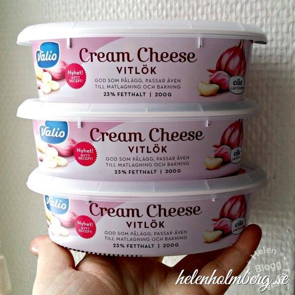 Laktosfri vitlöks creme cheese