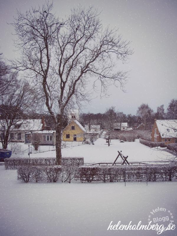 Snö i Mörarp