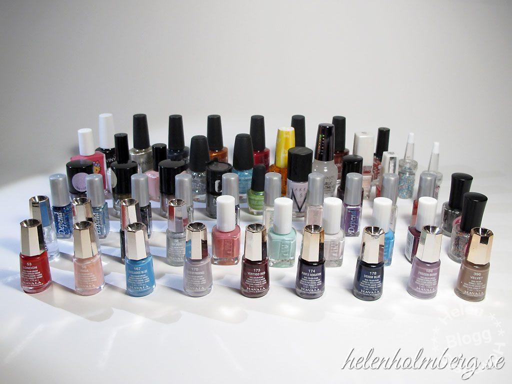 Helen Holmberg, min nagellacks samling