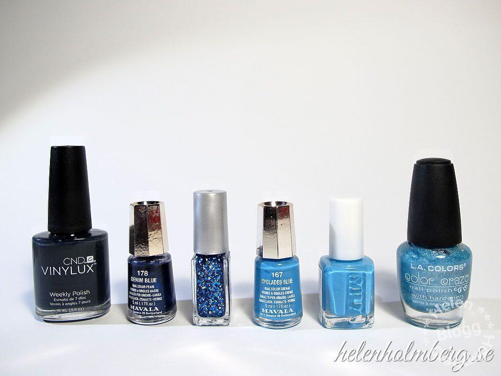 Helen Holmberg, min blå nagellackssamling