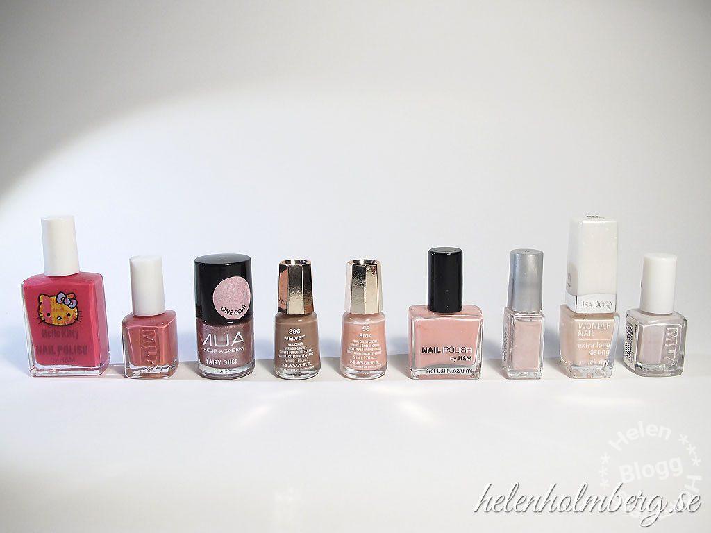 Helen Holmberg, min rosa nagellackssamling