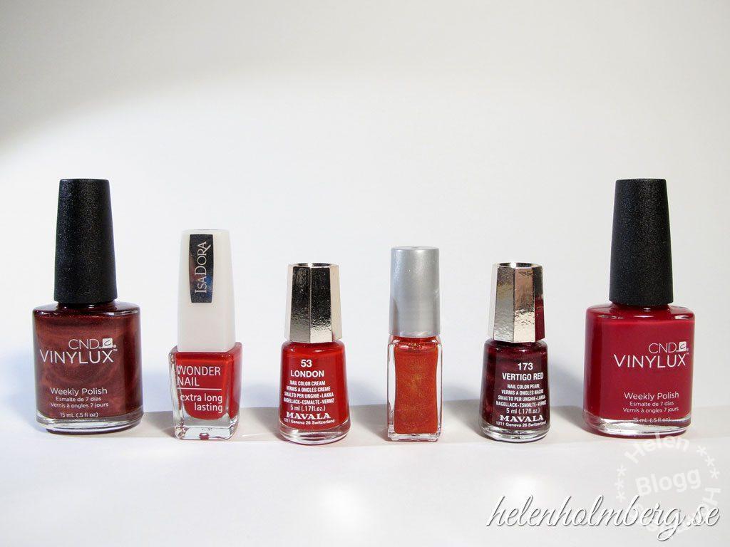 Helen Holmberg, min röda nagellackssamling