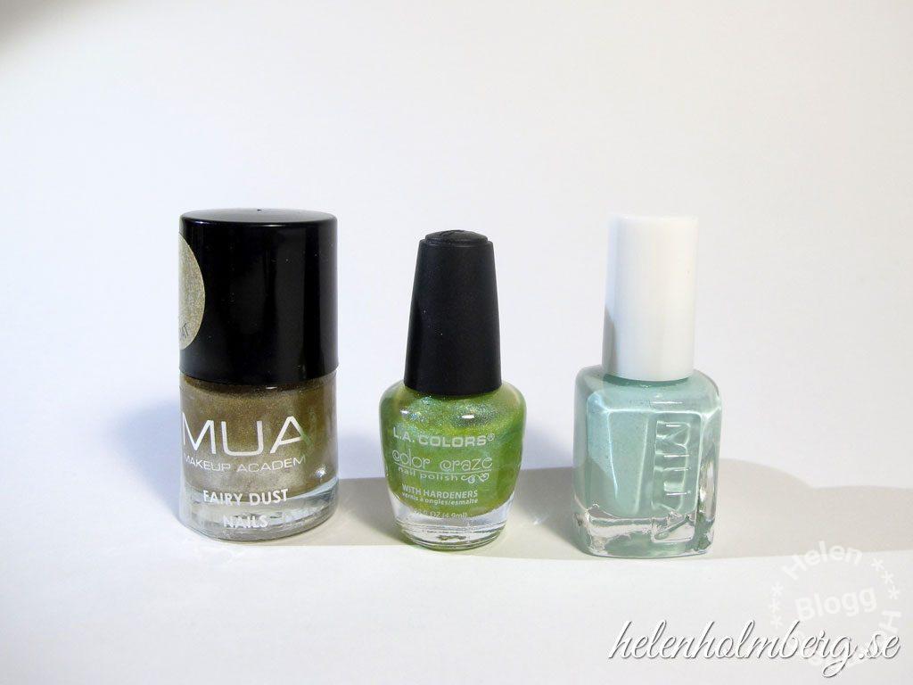 Helen Holmberg, min gröna nagellackssamling