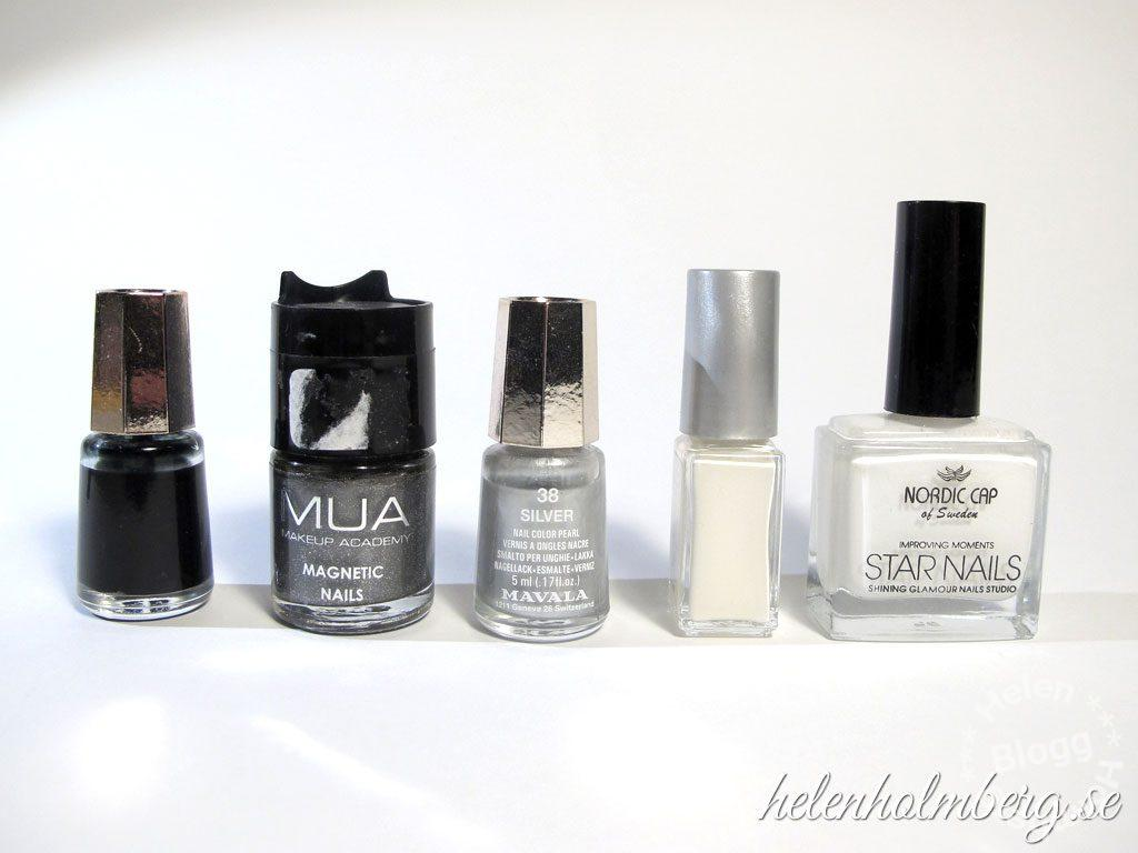 Helen Holmberg, min vit nagellackssamling