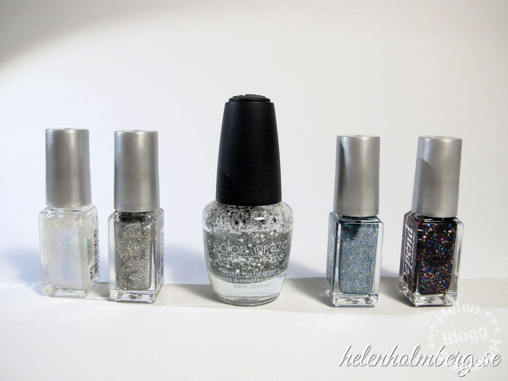 Helen Holmberg, min glitter nagellackssamling