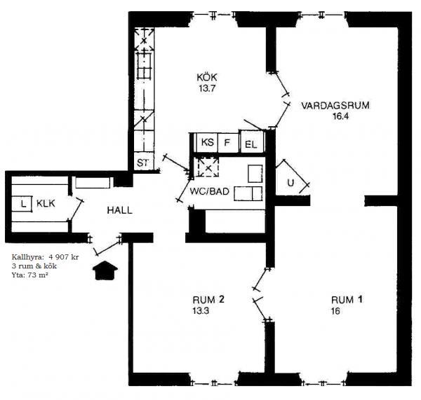 Vår lägenhet