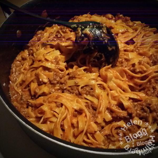 Ljuvligt god pasta och köttfärssås
