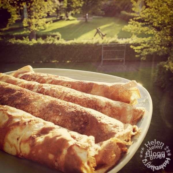 Laktosfria pannkakor med köttfärsröra och ost