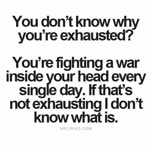 du vet inte varför du är utmattad?