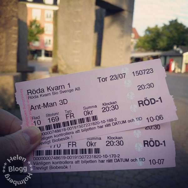 Gratis biobiljetter till filmen Ant-Man på Röda Kvarn i Ängelholm