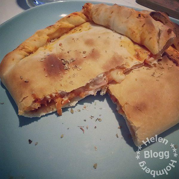 hembakt laktosfri calzone pizza