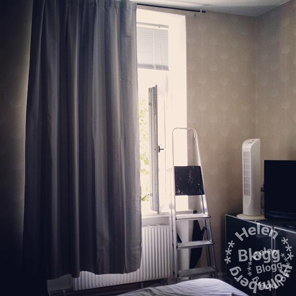 Hemtex mörkläggningsgardin i sovrummet