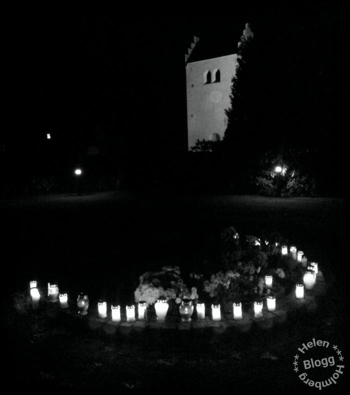 Tända ljus till minne av bortgågna, halloween i Sverige