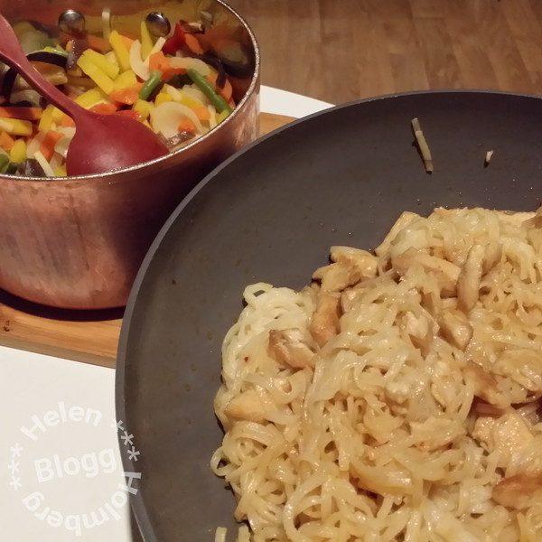 santa maria asian wok och risnudlar med findus wokgrönsaker