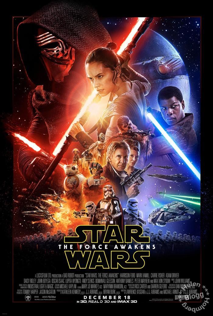 Officiell film poster från nya Star Wars filmen
