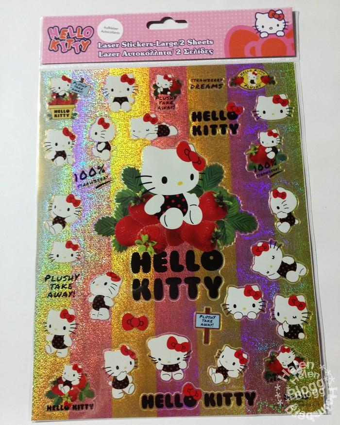 Hello Kitty klistermärke från Gekås, Ullared