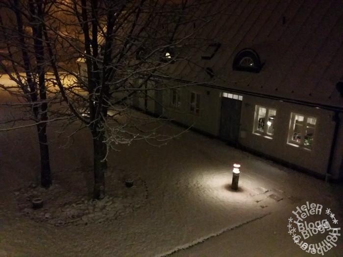 Första snön har fallit