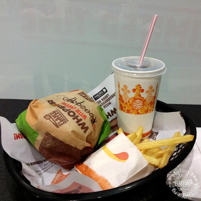 Hamburgare från Burger King till middag
