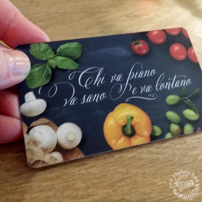 På vapiano beställer man på ett plastkort