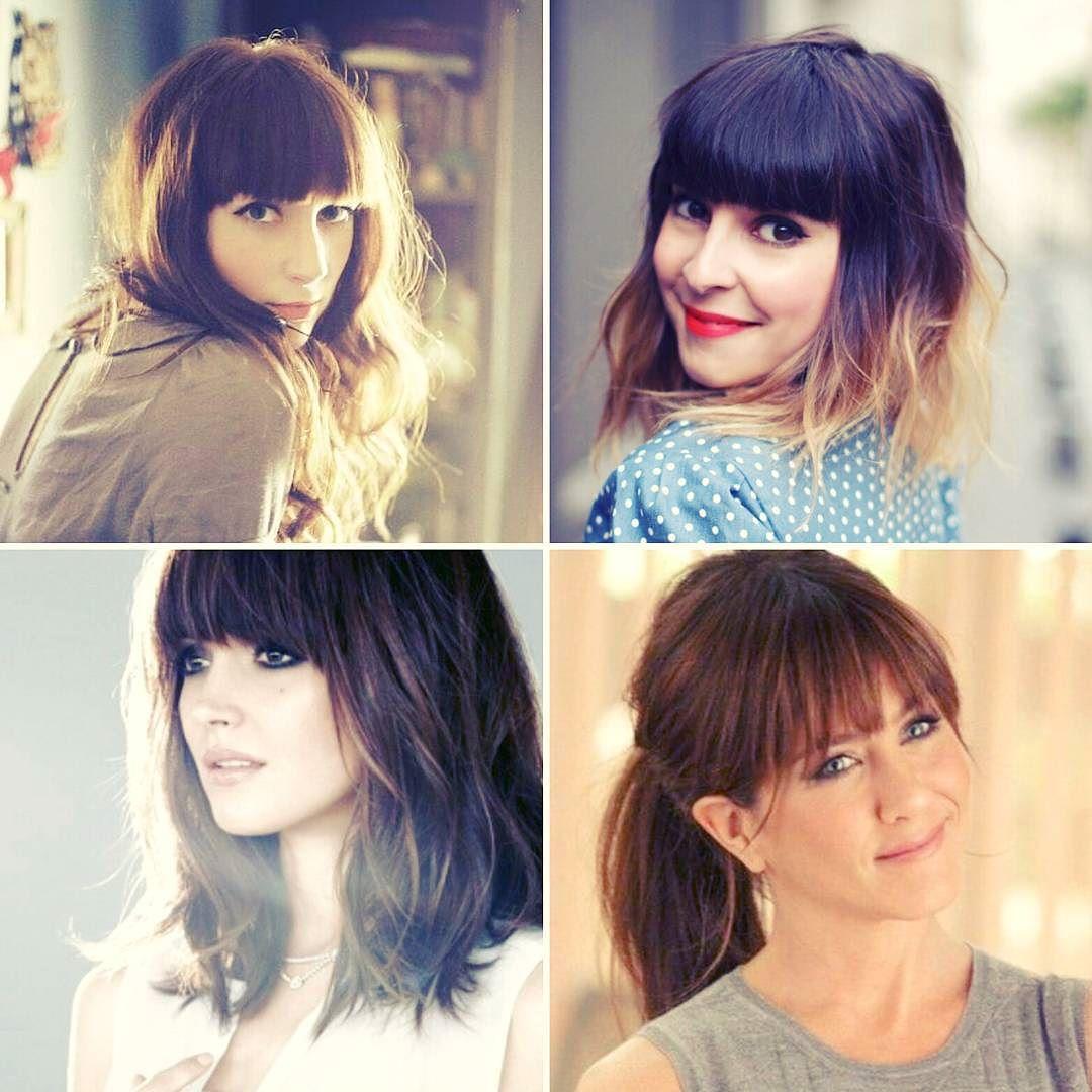 frisyrinspiration för långt hår med lugg