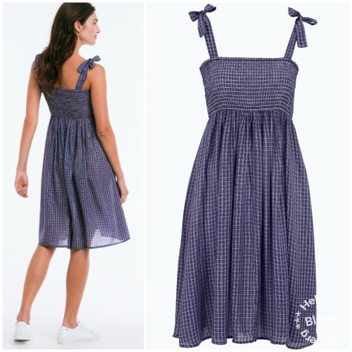 Vävd klänning med knytband på axlarna