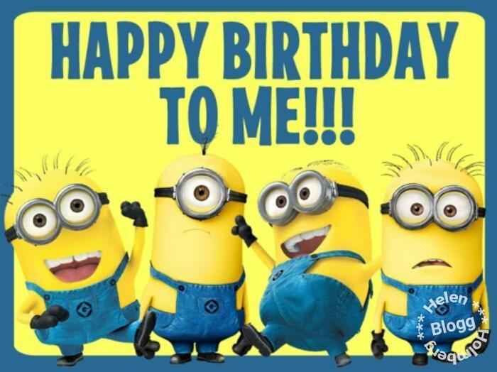 födelsedagskort med texten det är min födelsedag
