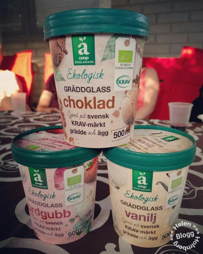Riktigt god krav märkt Änglamark glass utan tillsatser