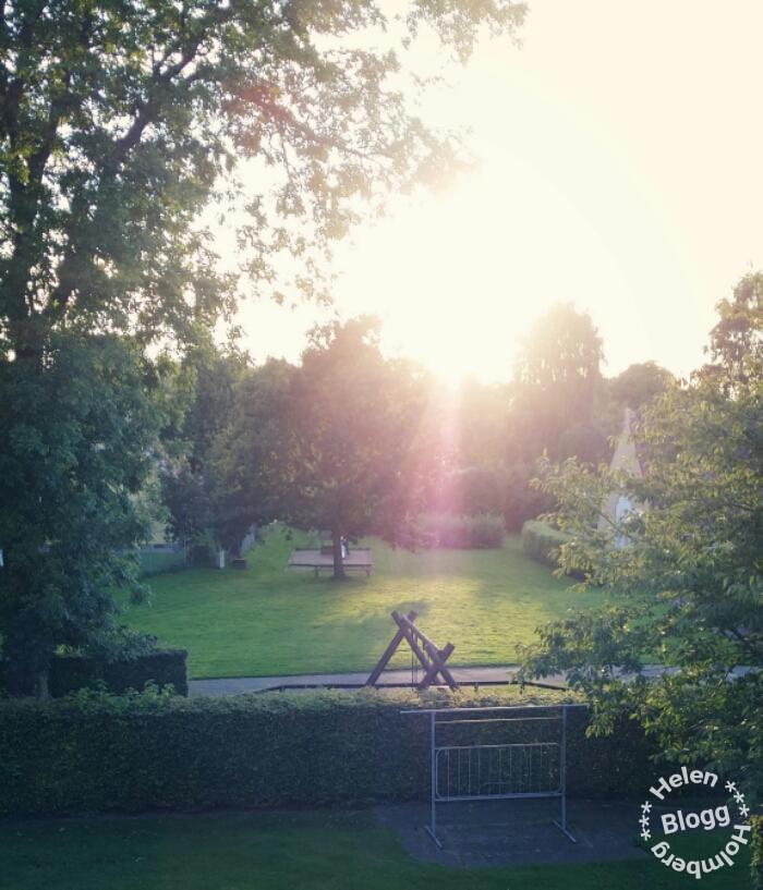 Vacker solskensdag tog sitt slut