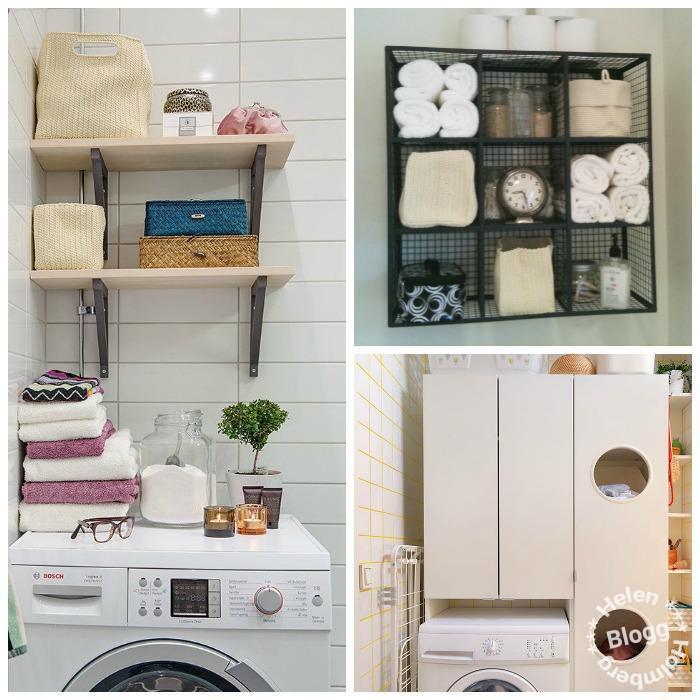 Inredning för liten tvättstuga