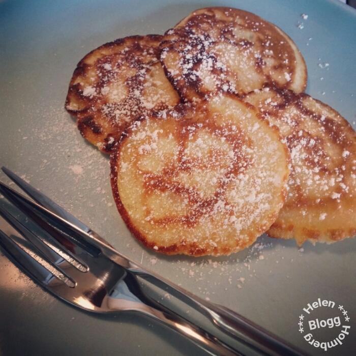 Frasiga pannkakor enligt amerikanskt recept