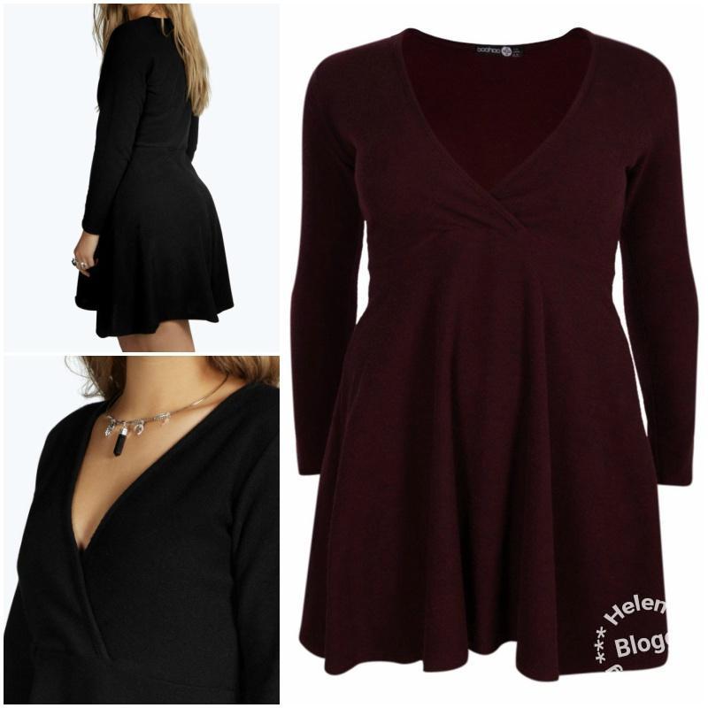 Black Friday fynd från Boohoo, en vinröd klänning