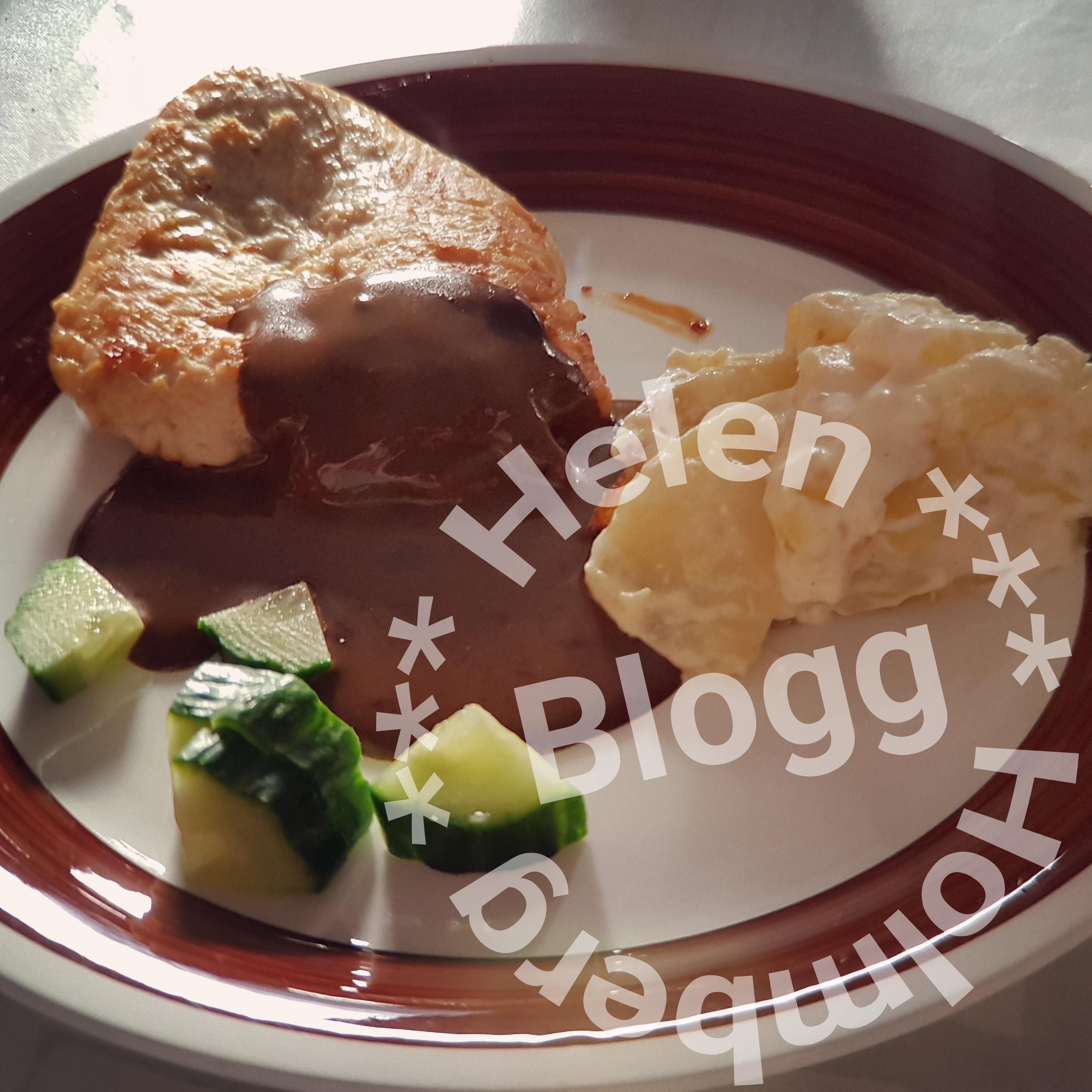 Kycklingfilé med potatisgratäng och sås